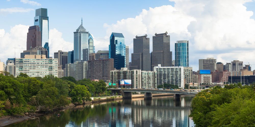 Skyline view of Philadelphia, Pennsylvania - USA